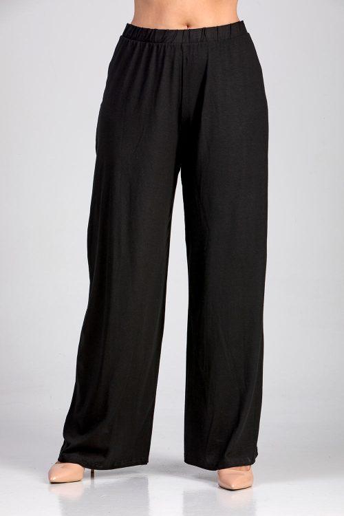 Γυναικεία παντελόνα με λάστιχο σε μεγάλα μεγέθη